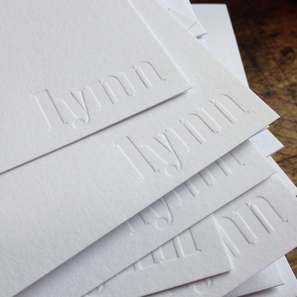 blind impression letterpress