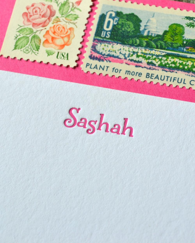 Paper Ink Press letterpress note cards