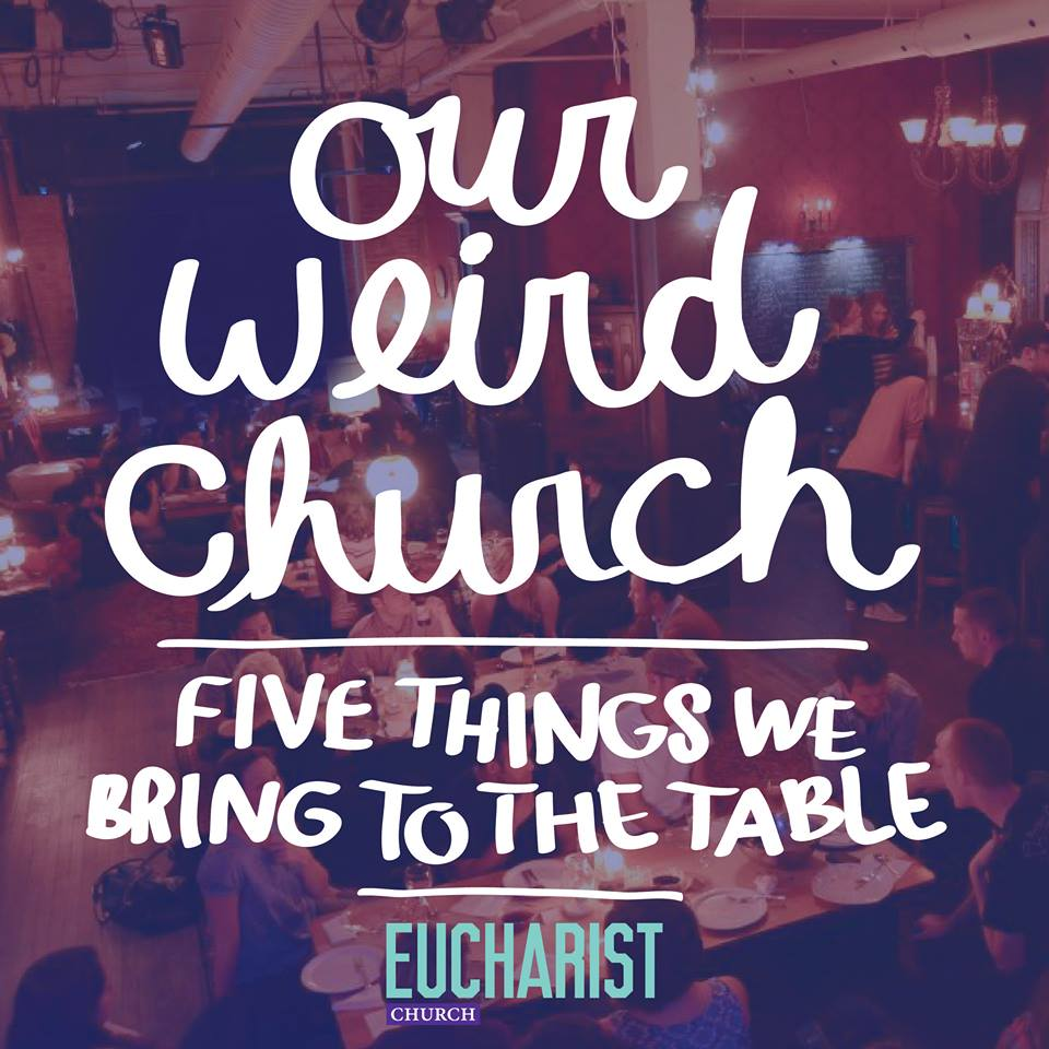 "Image by Michelle Both for our Sermon Series ""Our Weird Church"""