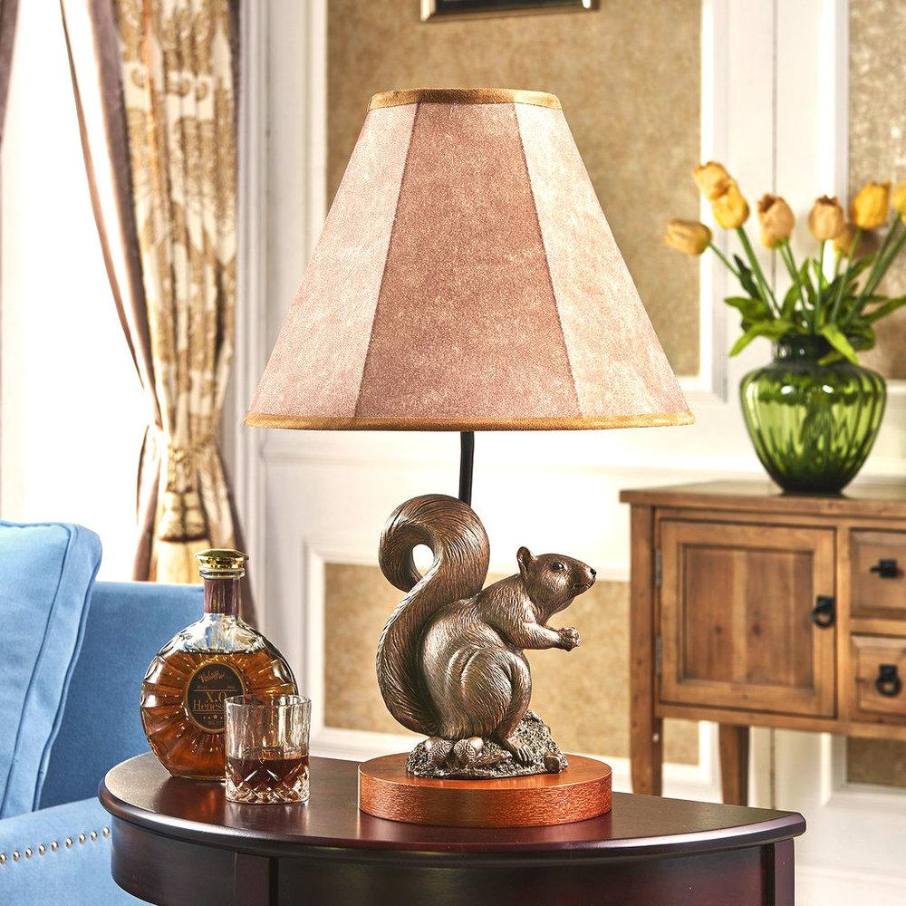John Parsons Signature Squirrel Sculpture Lamp