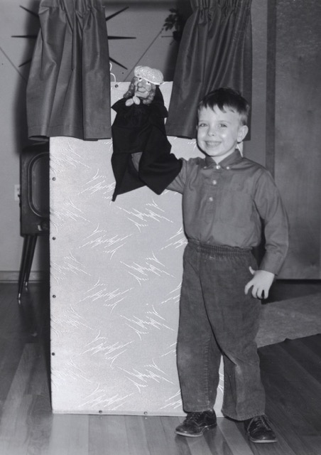4 year old puppeteer Wayne Martin