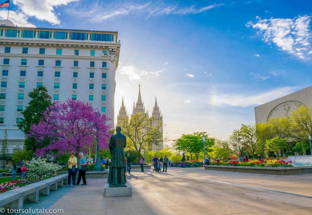 Temple Square Tour Buildings Salt Lake City