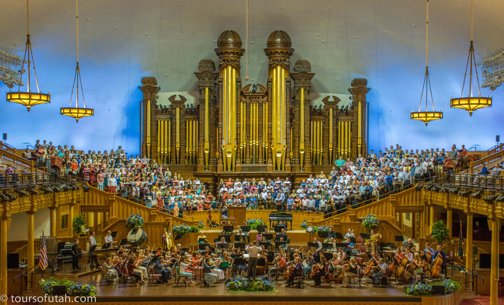 Mormon Tabernacle Choir Rehearsal on Mormon Tabernacle Choir and City Tour