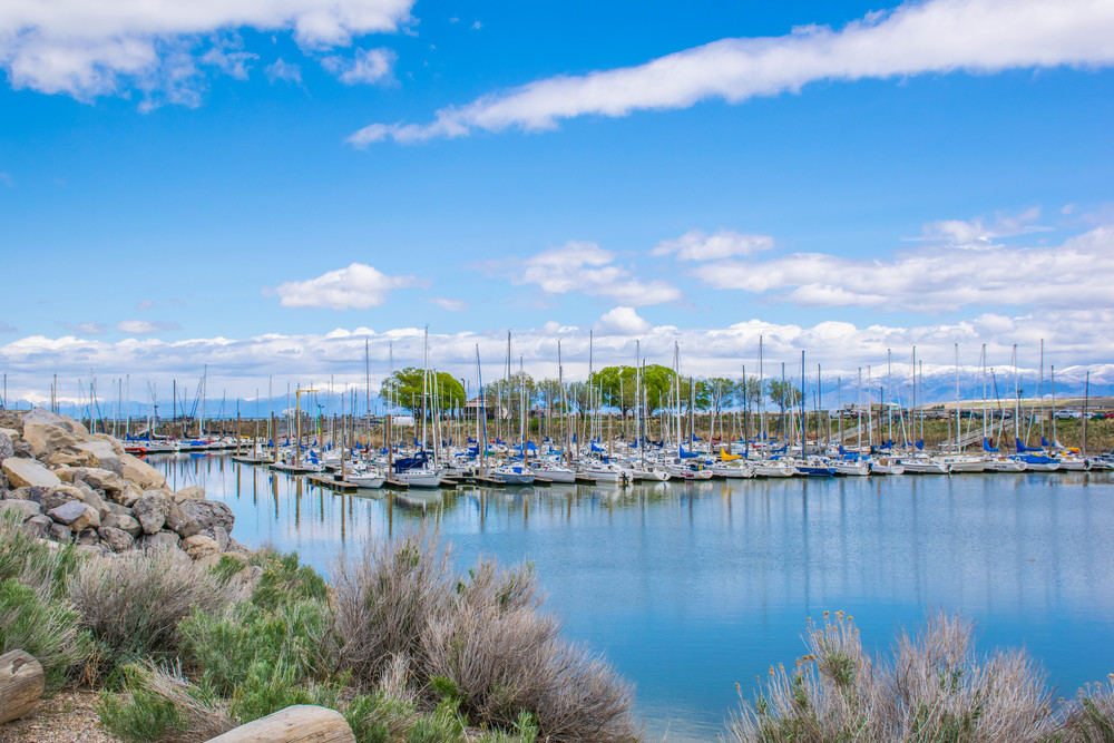 Great Salt Lake State Park Marina bus tour