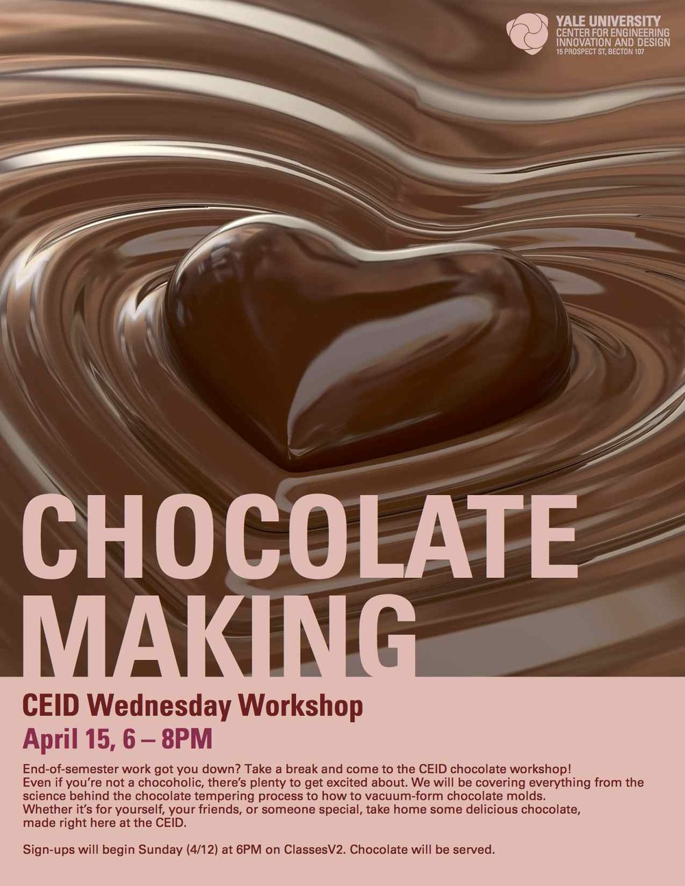 Design poster yourself - Poster Design For Ceid Chocolate Making Workshop