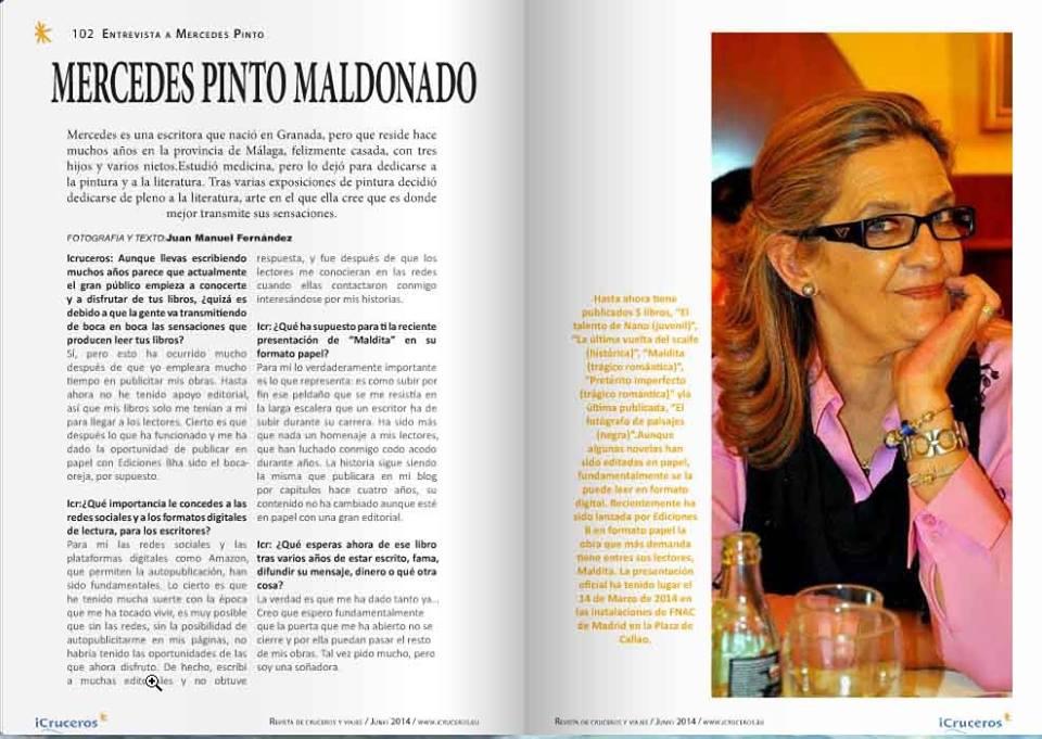 Entrevista a Mercedes Pinto Maldonado en iCruceros