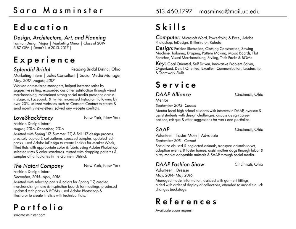 resume model word
