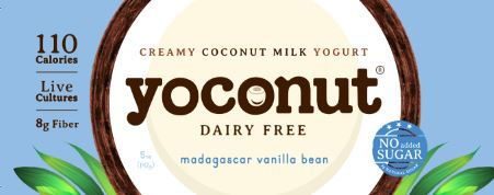 Coconut Yogurt, Dairy Free Yogurt, Vanilla Bean Low Sugar Yogurt