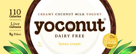 coconut yogurt, dairy free coconut yogurt, dairy free yogurt lemon flavor
