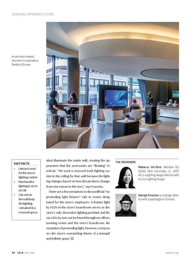lighting designing. Plain Lighting Check Out Rebecca HoDion And Alula Lighting Design In Julyu0027s Edition Of  LDA As She Discusses The Creative Process Around Designing For New Samsung  To Lighting