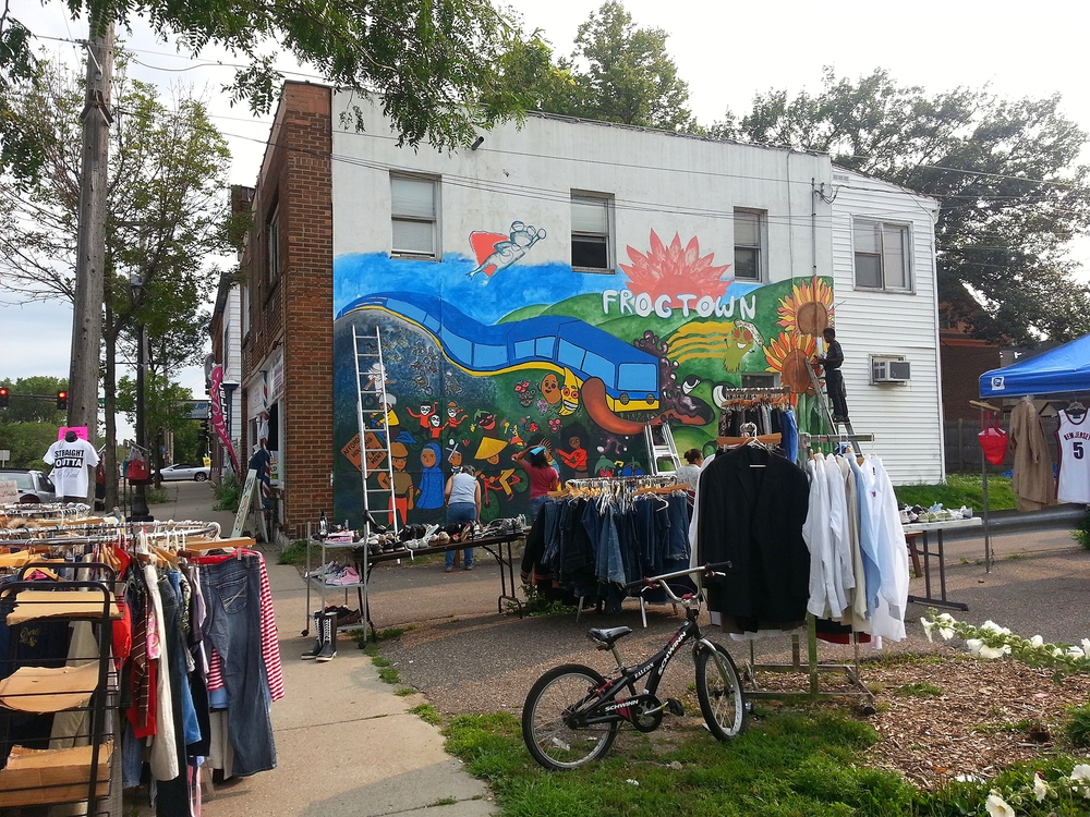 Frog Town Community Mural 2015 on 611 Dale St. N, St. Paul, MN 55103
