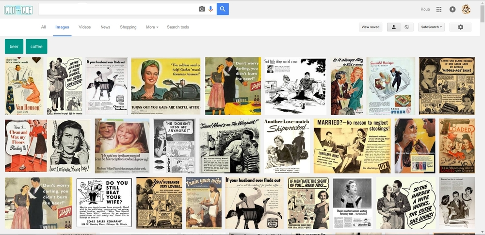 Google Search of vintage advertisement