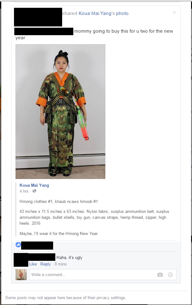 Screen Capture of the original Post on my Artist Facebook Page. Someone shared my photo onto their public facebook wall.