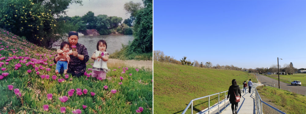 Left: Sacramento, California 1987, Right: Sacramento, California 2012