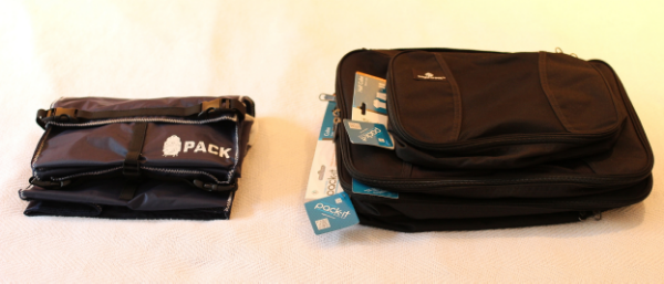 Empty, Packing Cubes take up 2.5 times more space than the PACK. This takes up valuable room in your bag.