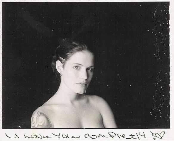 """""""  #TBT  A 'sneak pic' from my first professional photo shoot from a tattoo convention for International Tattoo Magazine .. amazing weekend!!!! - Circa 1997."""""""