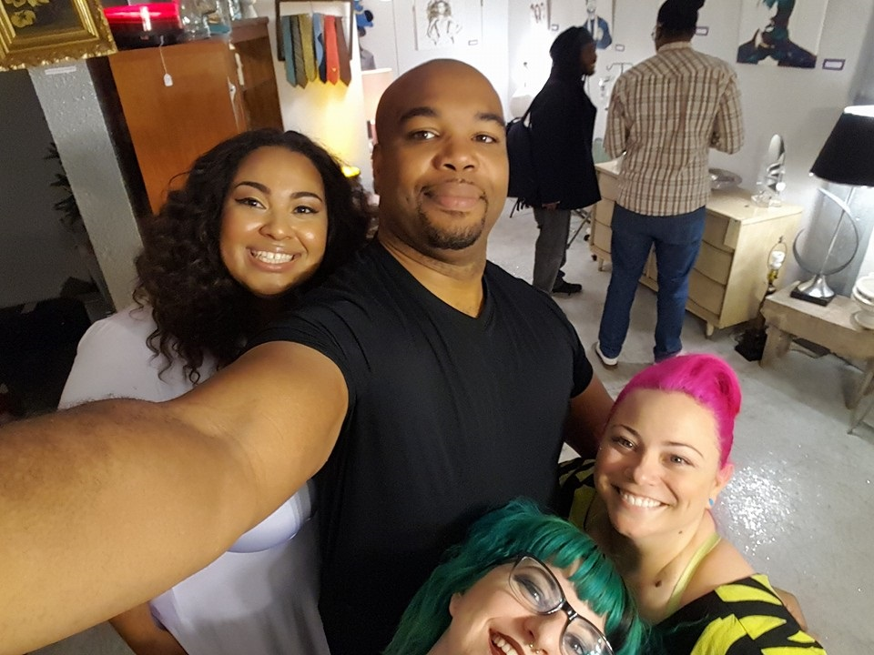 A few amazing people who make my even possible including my photographer (@contrast_pics) my hair stylist and co owner of Rebel Salon and Vintage, Annie (@anniec3po) and Alex- another stylist at Rebel (@superhairo87). All we were missing in our photo was Miles! (@lakme72)