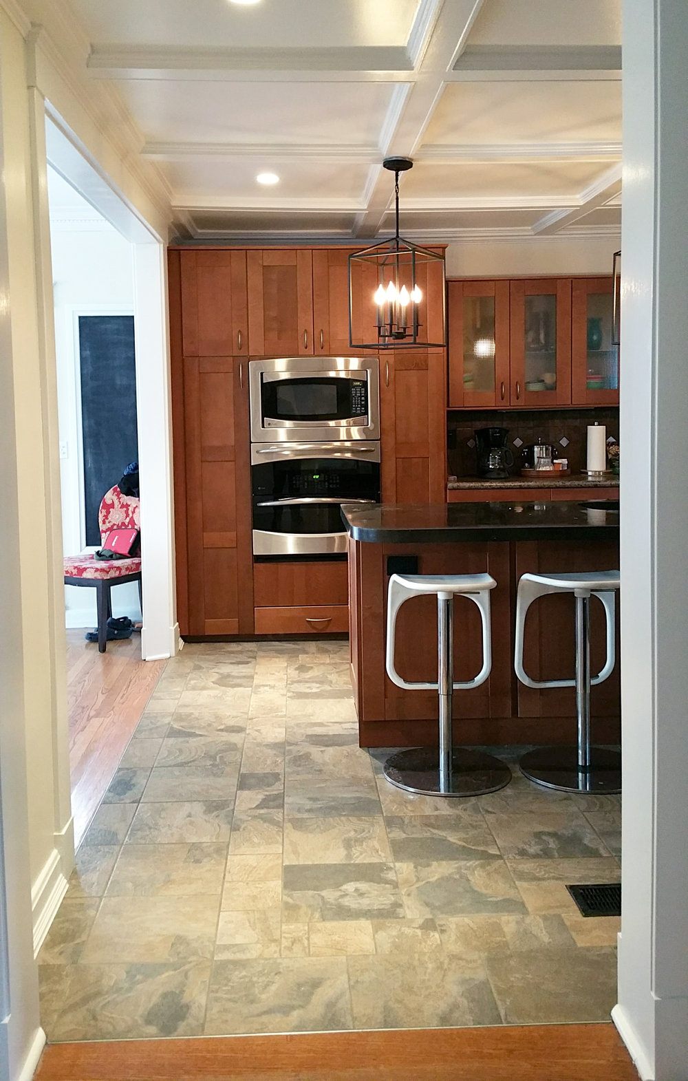 Kitchen Install From East Entryway