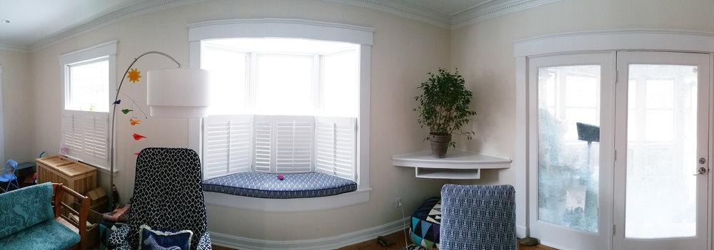 Family Room Trim Install (Panorama)