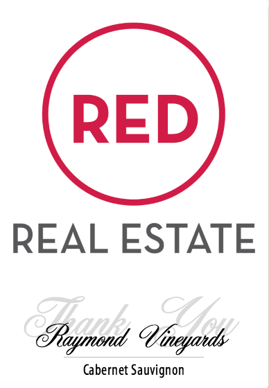 Custom label created for a Real Estate team.  VinoVie creates the label template with your preferred colors and logo or image.