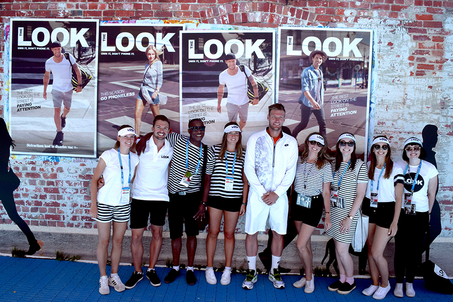 Sam Groth and 'The Look' team at the 2016 Australian Open