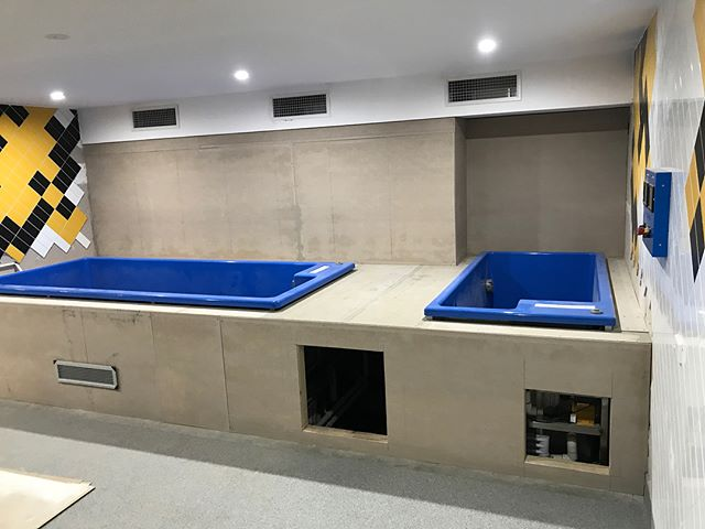 Werribee Football Club Project. Progress shots of the fit out of Recovery room we are completing. Will finish of one professional set up. Go Tigers #icoolsport #afl #vfl #icebath #recovery #plungepool #construction #fitout #progress
