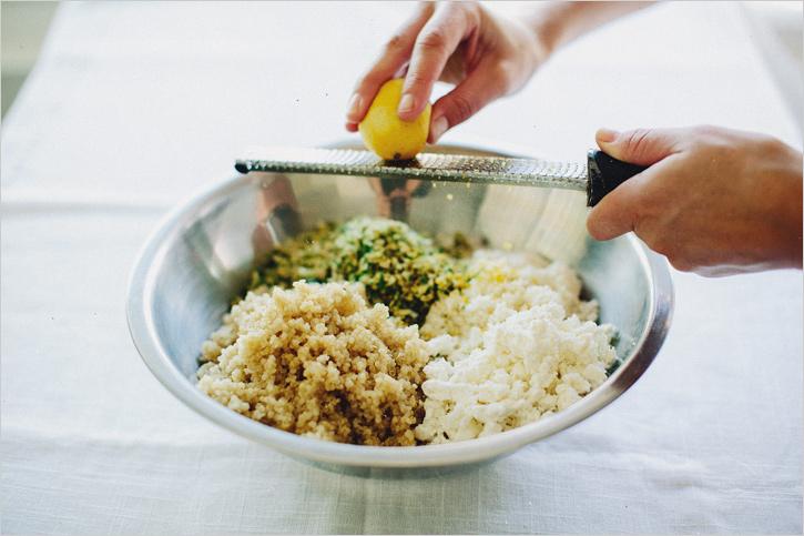 pquinoa cauliflower patties . sprouted kitchen