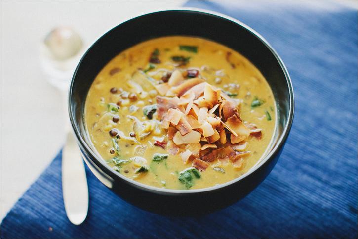 Lentil coconut soup 3