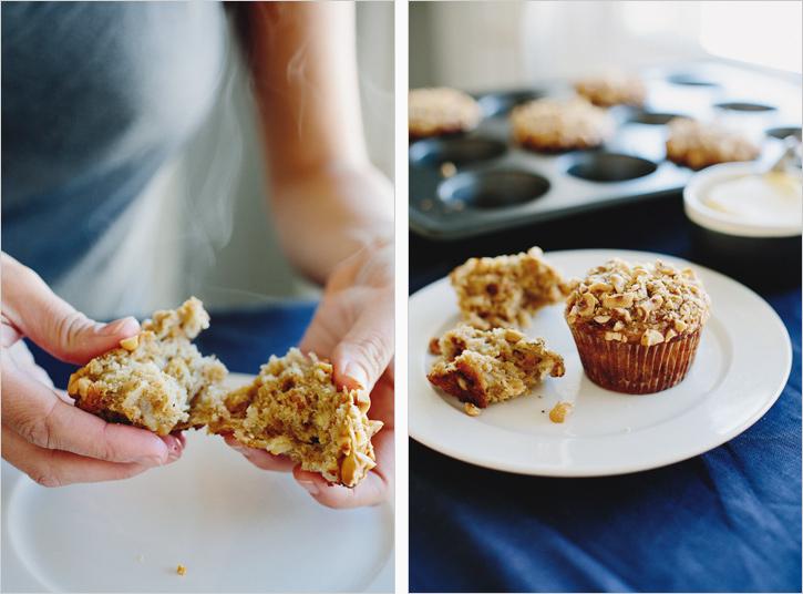 Pear & Hazelnut Oat Muffins