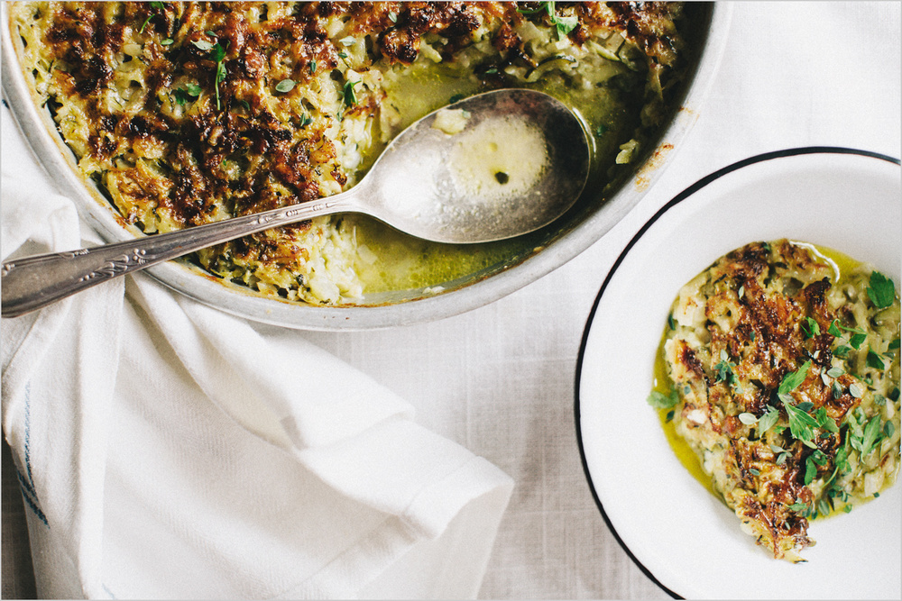 Brown Rice & Zucchini Gratin . Sprouted Kitchen