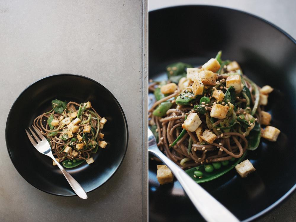 cold sesame cucumber noodles