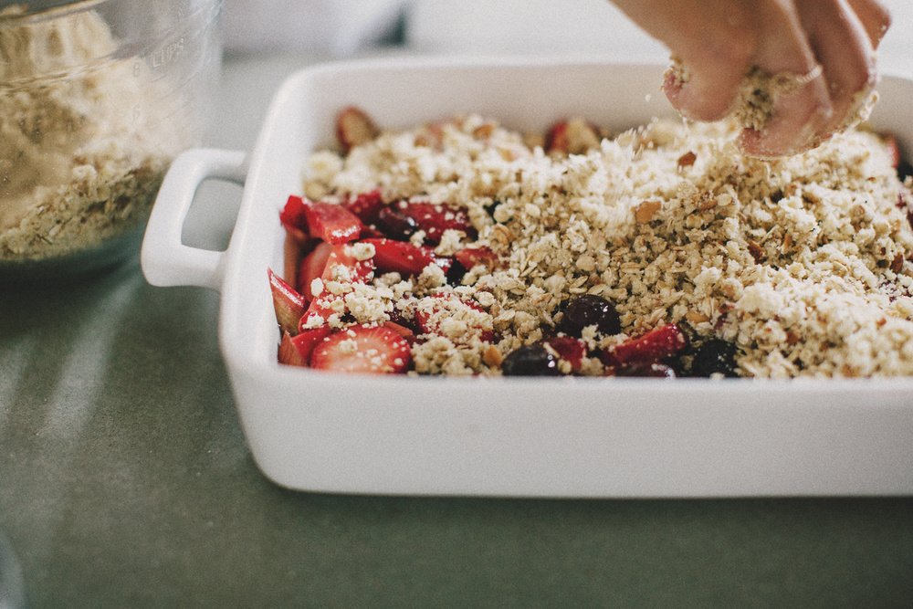 Berry Rhubarb Crisp - Process - Sprouted Kitchen