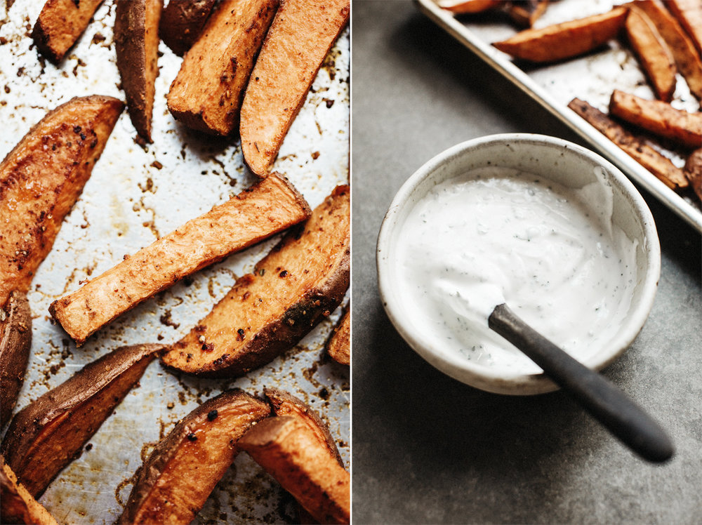 Toddler Vegetables . Roasted Sweet Potatoes with Herby Yogurt Dip . Sprouted Kitchen