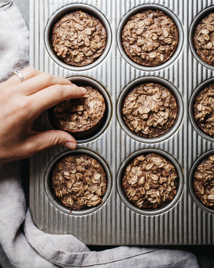 Oatmeal Cups with Peanut Butter and Banana . Sprouted Kitchen