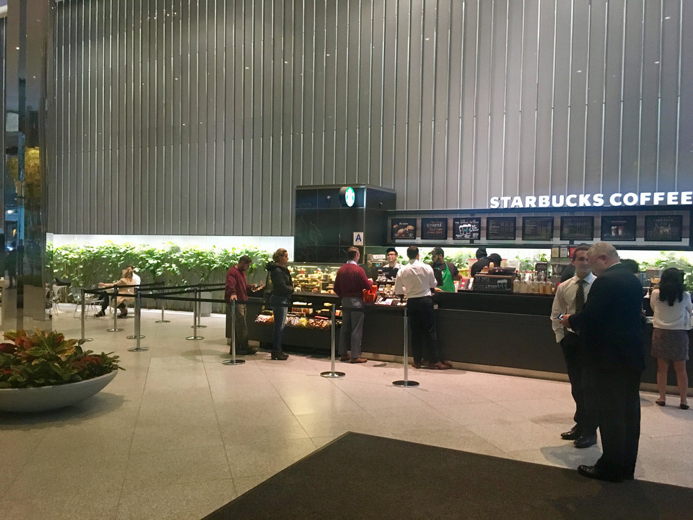 The Starbucks at Park Avenue Plaza