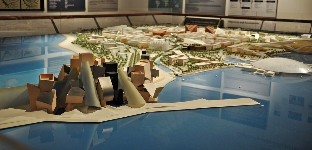 A model of the planned Guggenheim in Abu Dhabi. Photo: Alberto Gonzalez Rovira