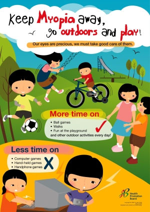 Singapore poster encouraging outdoor play.