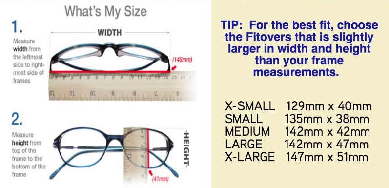 McDonald Adams Optometrists How to Measure Your Glasses for Fitovers