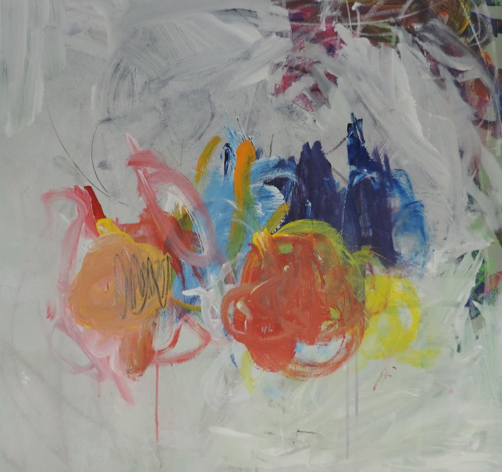 Untitled, acrylic paint and gouache, Stuart Hutchinson, 2014