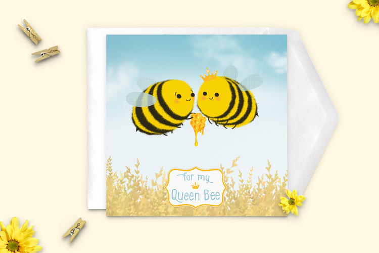 Greeting cards martha bowyer queen bee greeting card m4hsunfo