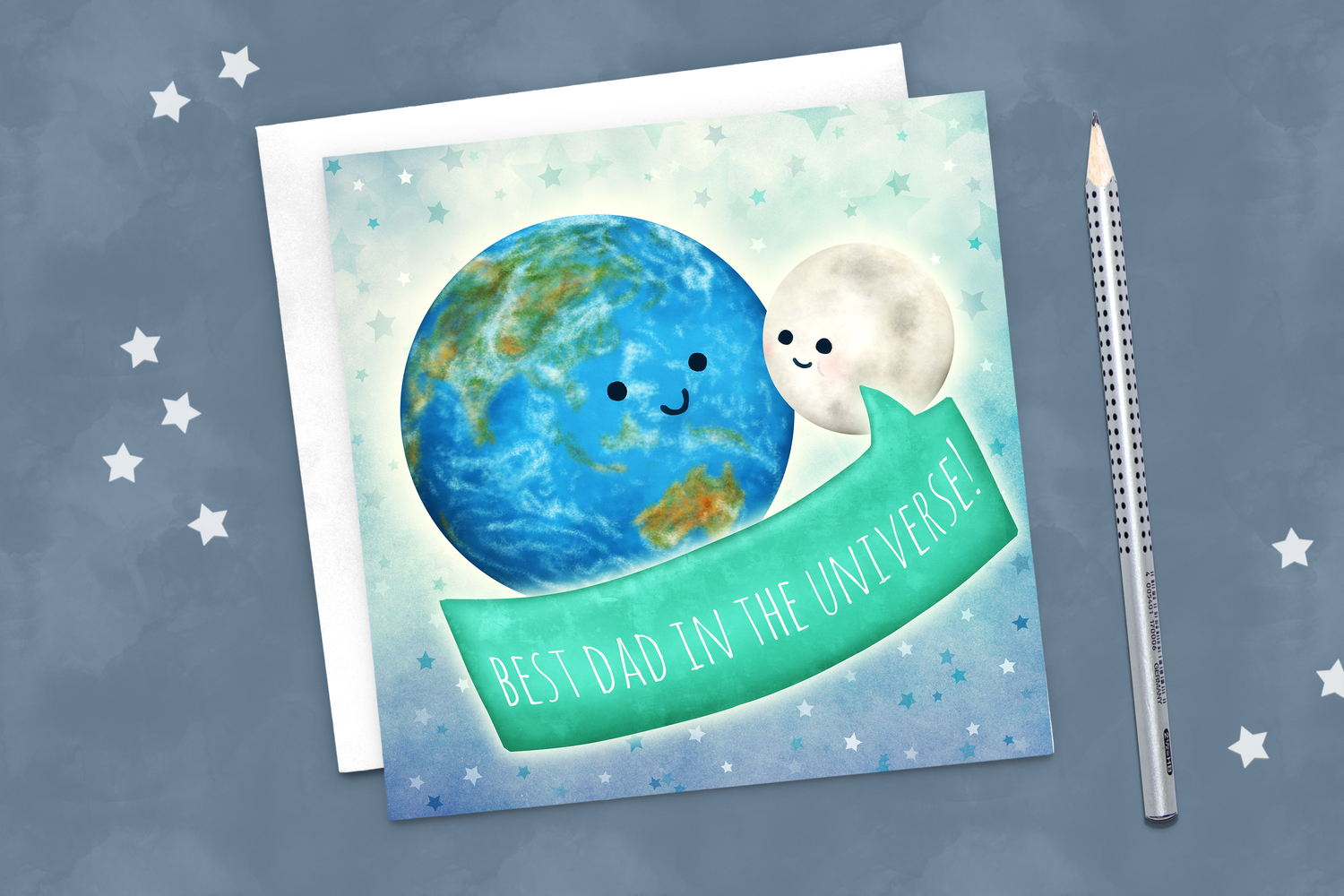 Best In The Universe Earth Moon Greeting Card Martha Bowyer