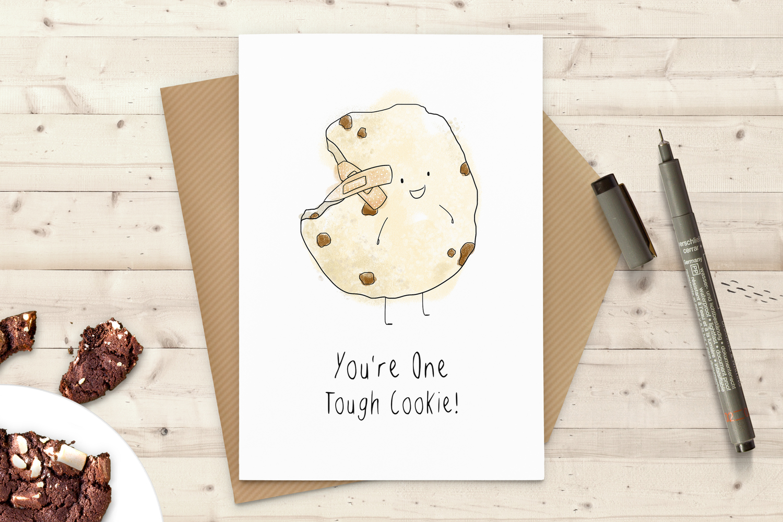 Tough cookie greeting card martha bowyer tough cookie greeting card kristyandbryce Image collections