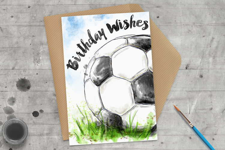 Birthday Wishes Football Greeting Card