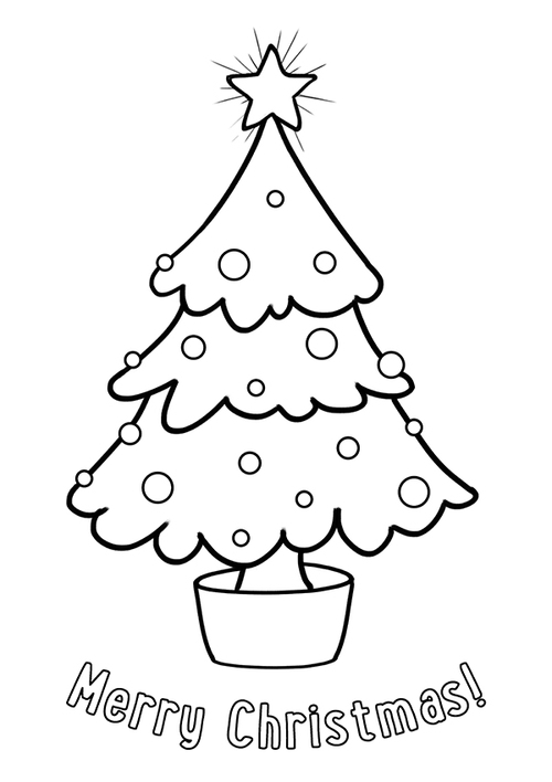 Colour-Me-In Christmas Tree Card
