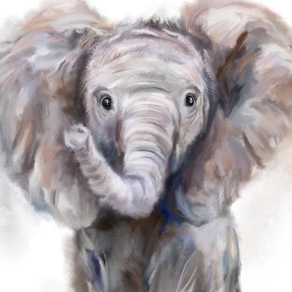 Ella\' Baby Elephant Print — Martha Bowyer