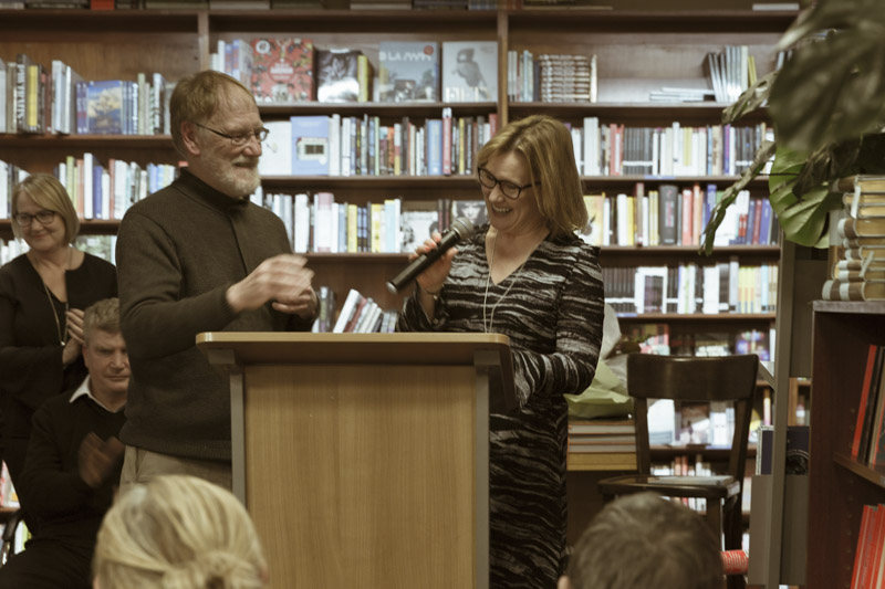 Peter Bishop and Ventura Press director and publisher, Jane Curry.