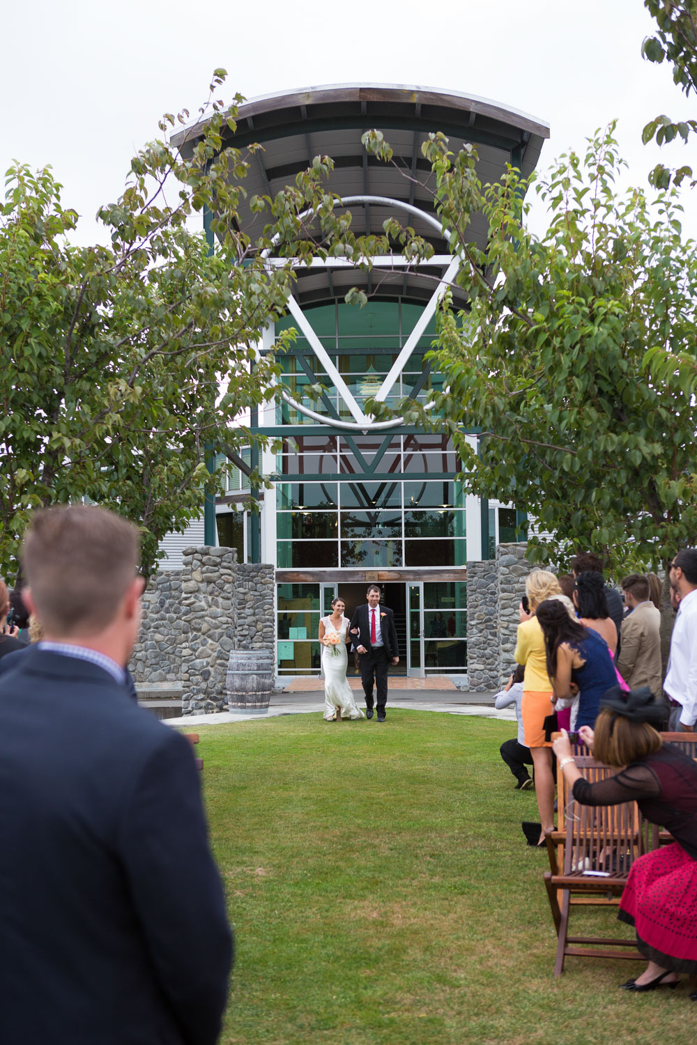 Sileni Estate winery wedding ceremony