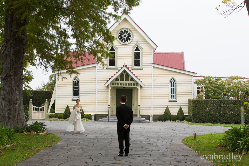 Wedding at The Old Church, Meeanee, Napier.