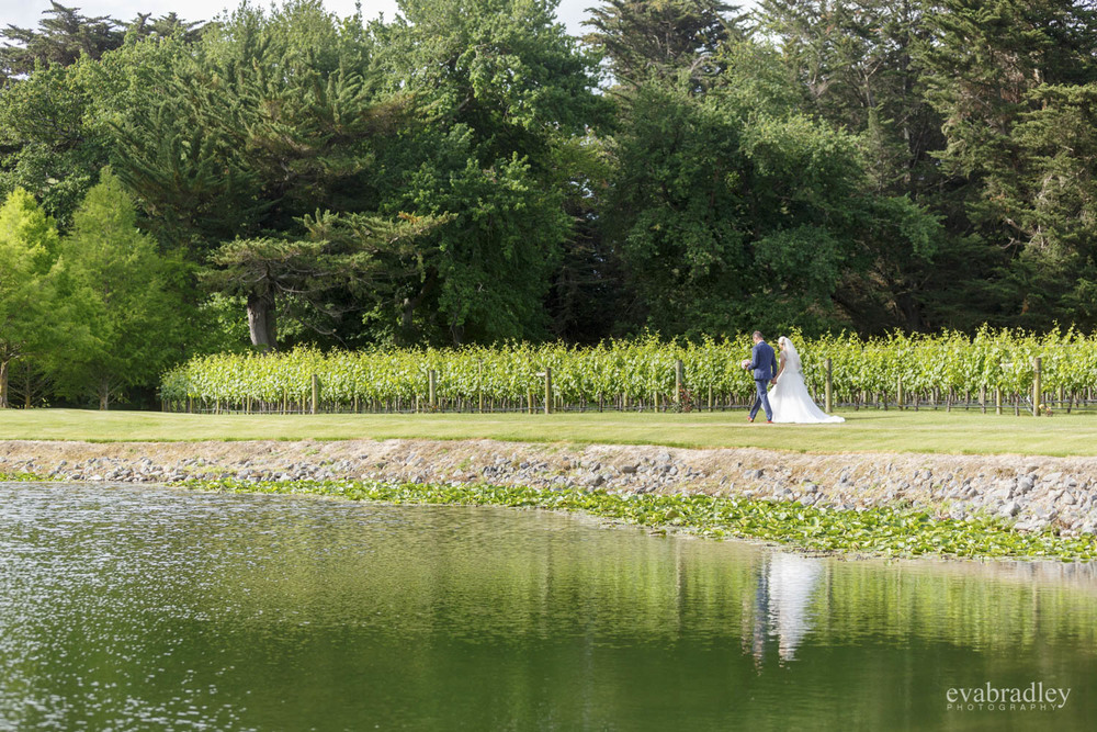 lake at craggy range weddings
