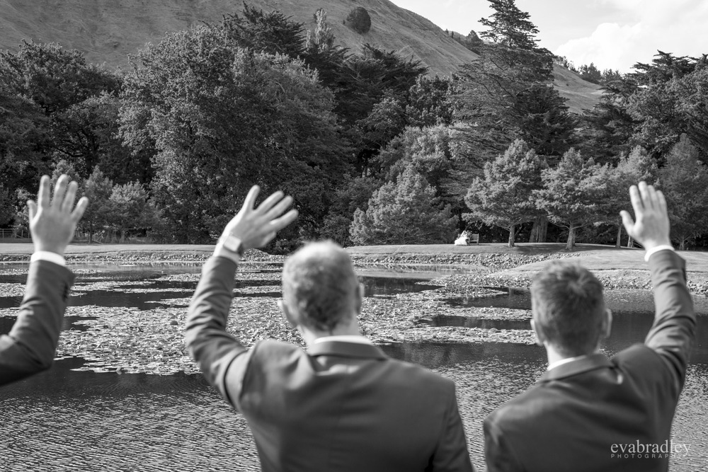 waving craggy range wedding photography